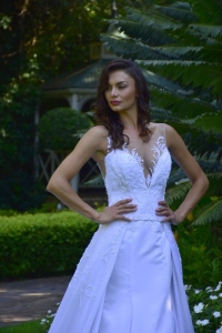 8-new-romantics-bridal-white-a-line-satin-wedding-dress-with-deep-v-neckline-and-lace-detail