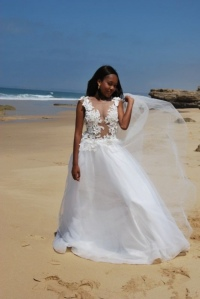 24-new-romantics-bridal-Full-skirt-beach-wedding-dress-with-see-through-3d-flower-lace_
