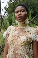 34-new-romantics-matric-dance-dress-hire-gold-lace-collage-bodice-ordained-with-fine-feathers-dress