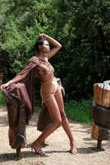 41-new-romantics-matric-dance-dress-hire-chocolate-brown-lace-bodice-and-rust-hot-pants