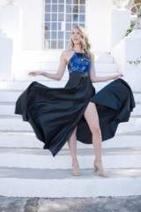 87-new-romantics-bridal-couture-Show-of-your-flair-in-this-black-satin-dress-with-sequin-bodice