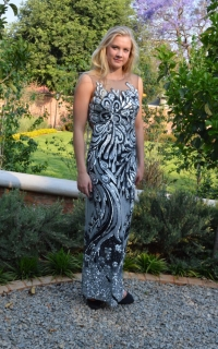 60 black and silver sequin dress