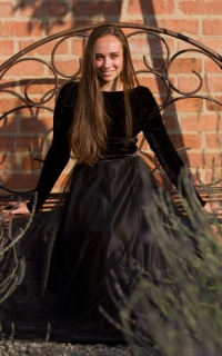 10 boat neck long sleeve black velvet  dress