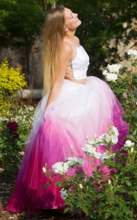38 ombre pink tulle skirt