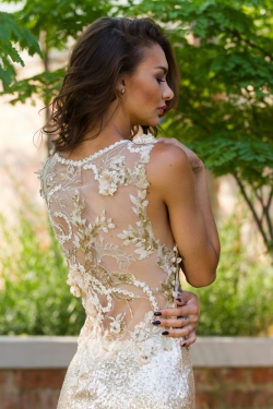 gold lace back detail