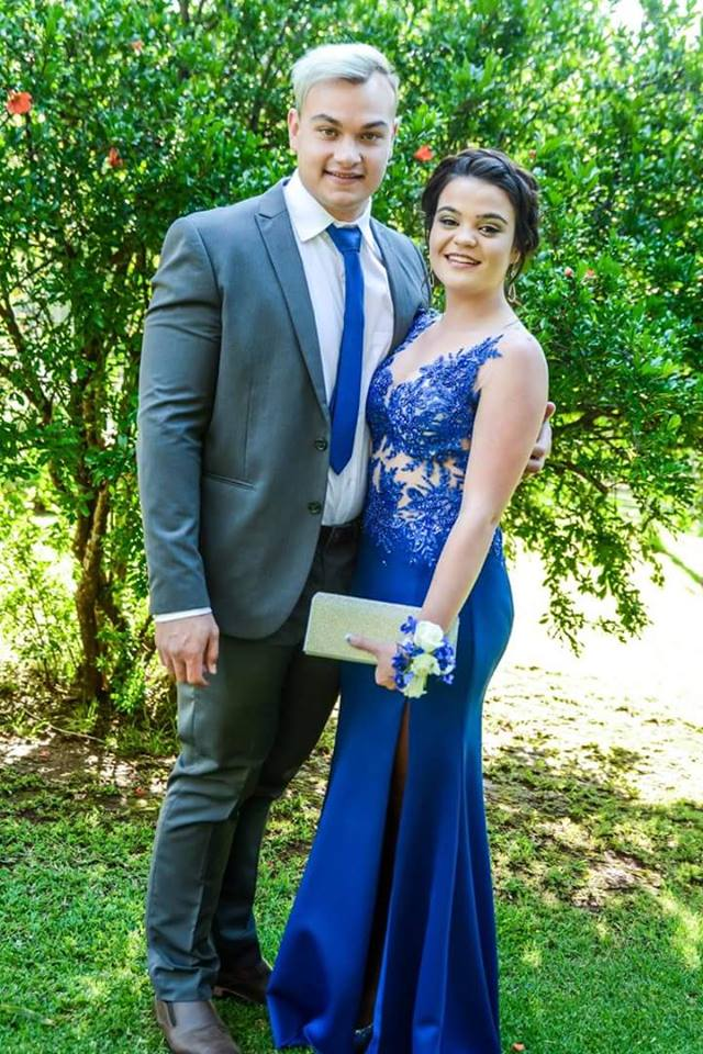 Renate Venter royal blue beaded lace matric dance dress made by New Romantics 3