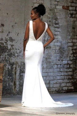 32-new-romantics-bridal-Fitted-off-white-low-deep-V-back-wedding-dress