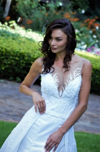 5-new-romantics-bridal.-deep-v-neck-white-satin-wedding-dress-with-lace-detail
