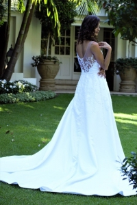 6-new-romantics-bridal-white-A-line-satin-wedding-dress-with-lace-back-detail