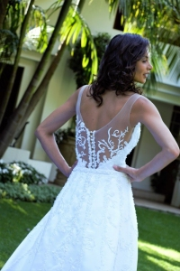 7-new-romantics-bridal-white-A-line-satin-wedding-dress-with-low-back-and-lace-detail