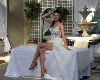 1-Sexy-lace-beach-wedding-dress-with-soft-mesh-skirt-and-hot-pants