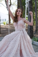 10-new-romanticsmatric-dance-dress-hire-Full-peach-textured-skirt