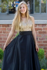 42-new-romantics-matric-dance-dress-hire-gold-sequin-bodice-with-full-black-satin-skirt
