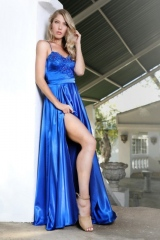 75-new-romantics-bridal-matric-dance-dress-hire-Royal-blue-full-satin-skirt-with-V-neckline-bodice