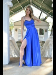 76-Royal-blue-satin-matric-dance-dress-full-skirt-high-slit-sweetheart-neckline