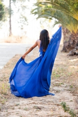79-New-romantics-bridal.-evening-dress-hire.-royal-blue-chiffon-skirt-halter-top-hot-pants
