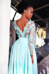 94-new-romantics-matric-dance-dress-hire-Aqua-blue-satin-skirt-with-3d-lace-bodice