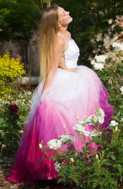 ombre pink tulle skirt