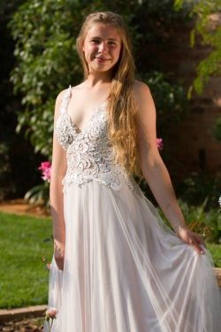 see through lace bodice with mesh skirt