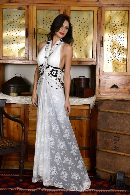 38-new-romantics-bridal-couture-vintage-wedding-dress-Halter-neck-lace-dress-with-rose-and-pearl-detail-dress